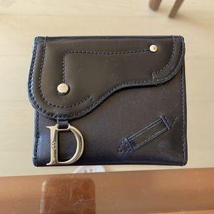 Dior Black Saddle Wallet